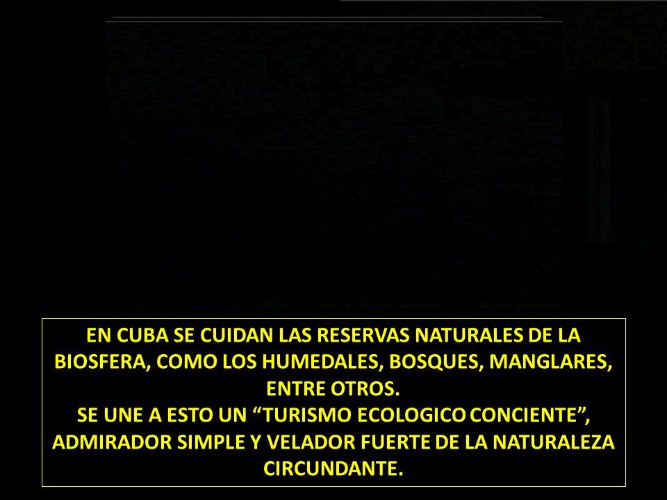 EN CUBA SE CUIDAN LAS RESERVAS NATURALES DE LA BIOSFERA, COMO LOS HUMEDALES, BOSQUES, MANGLARES, ENTRE OTROS.