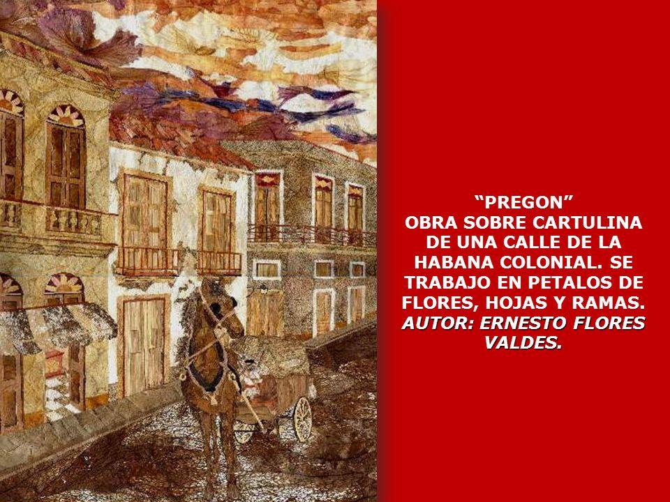 PREGON OBRA SOBRE CARTULINA DE UNA CALLE DE LA HABANA COLONIAL