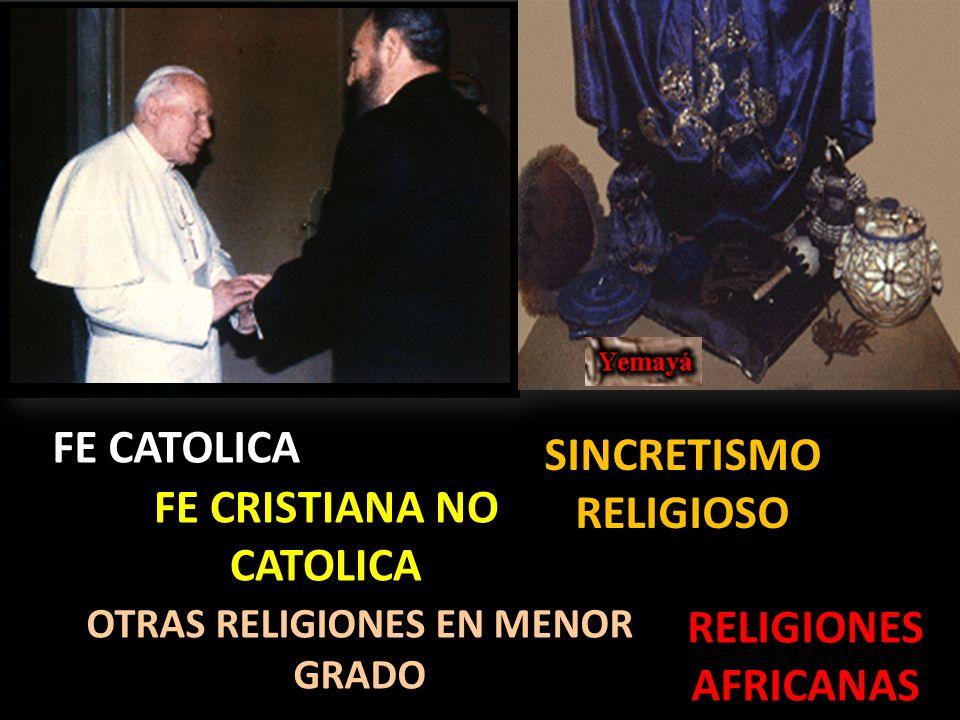 SINCRETISMO RELIGIOSO FE CRISTIANA NO CATOLICA
