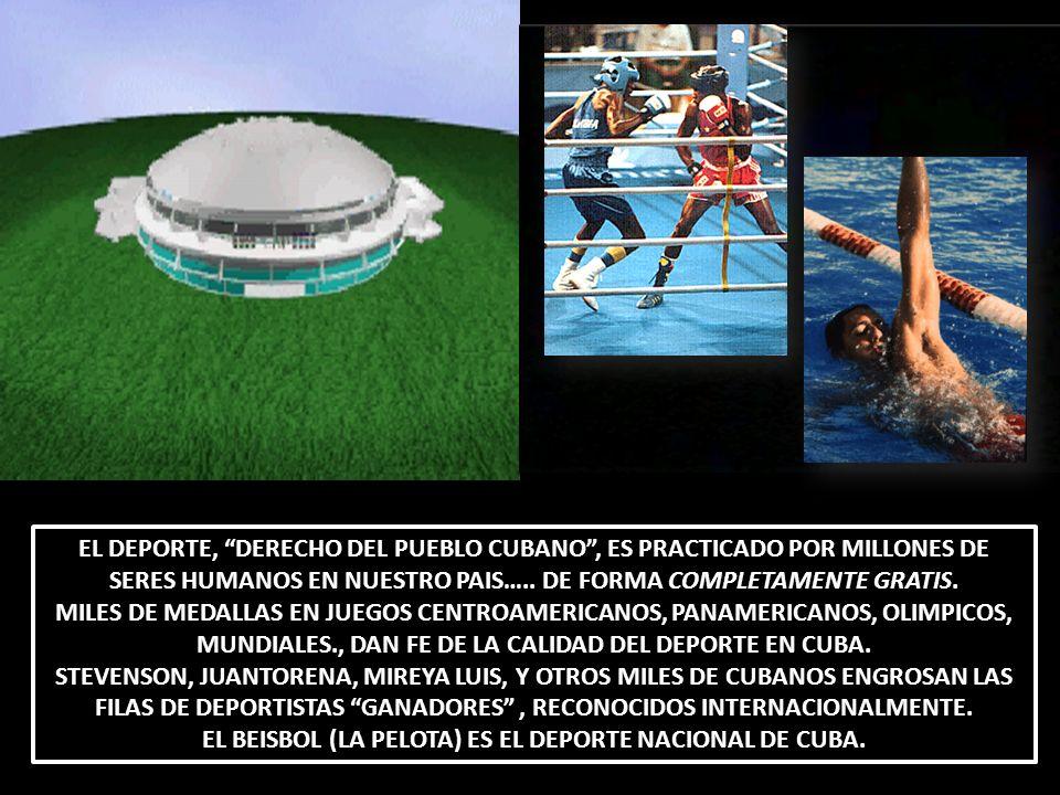 EL BEISBOL (LA PELOTA) ES EL DEPORTE NACIONAL DE CUBA.