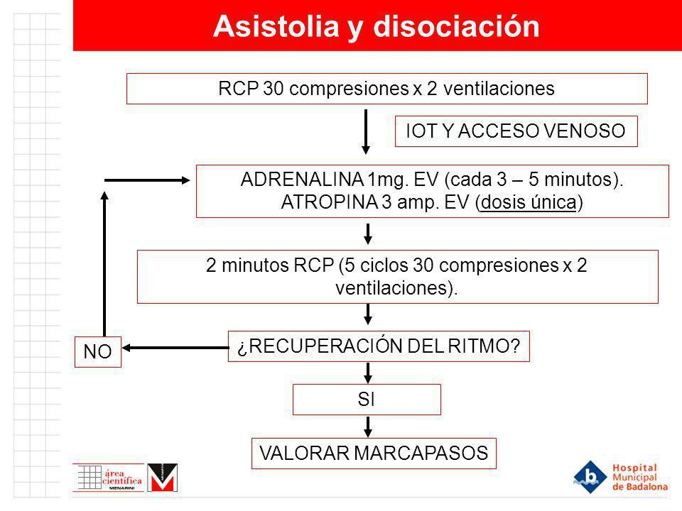 Asistolia y disociación
