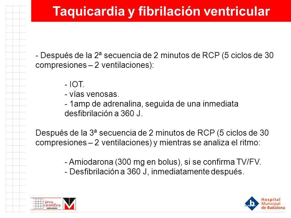 Taquicardia y fibrilación ventricular