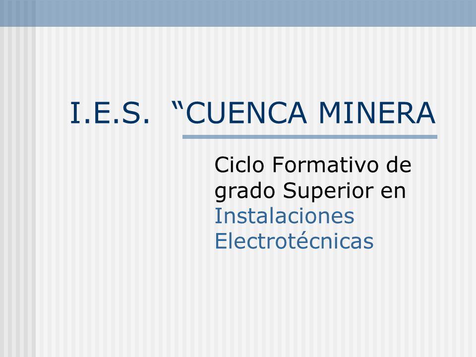 Ciclo Formativo de grado Superior en Instalaciones Electrotécnicas