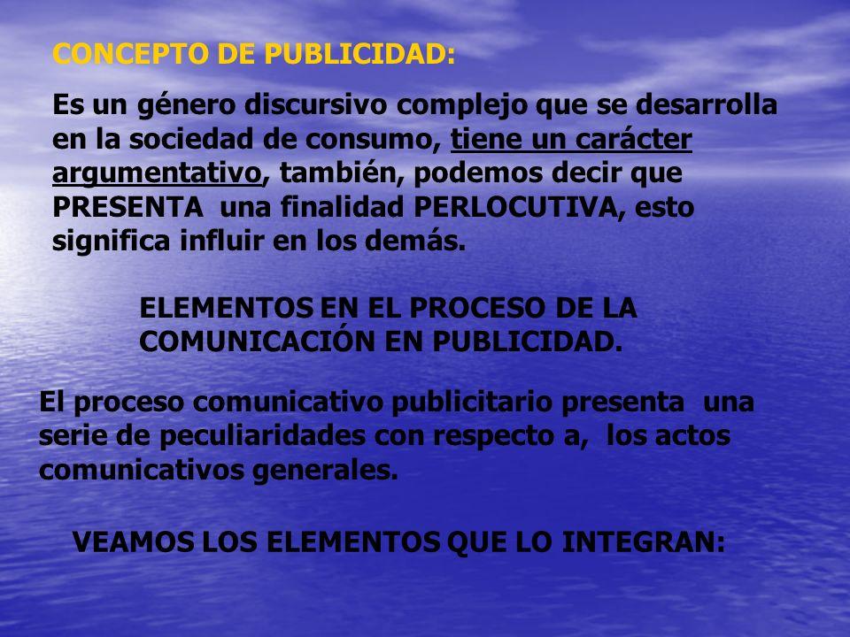 CONCEPTO DE PUBLICIDAD: