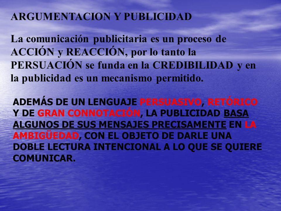 ARGUMENTACION Y PUBLICIDAD
