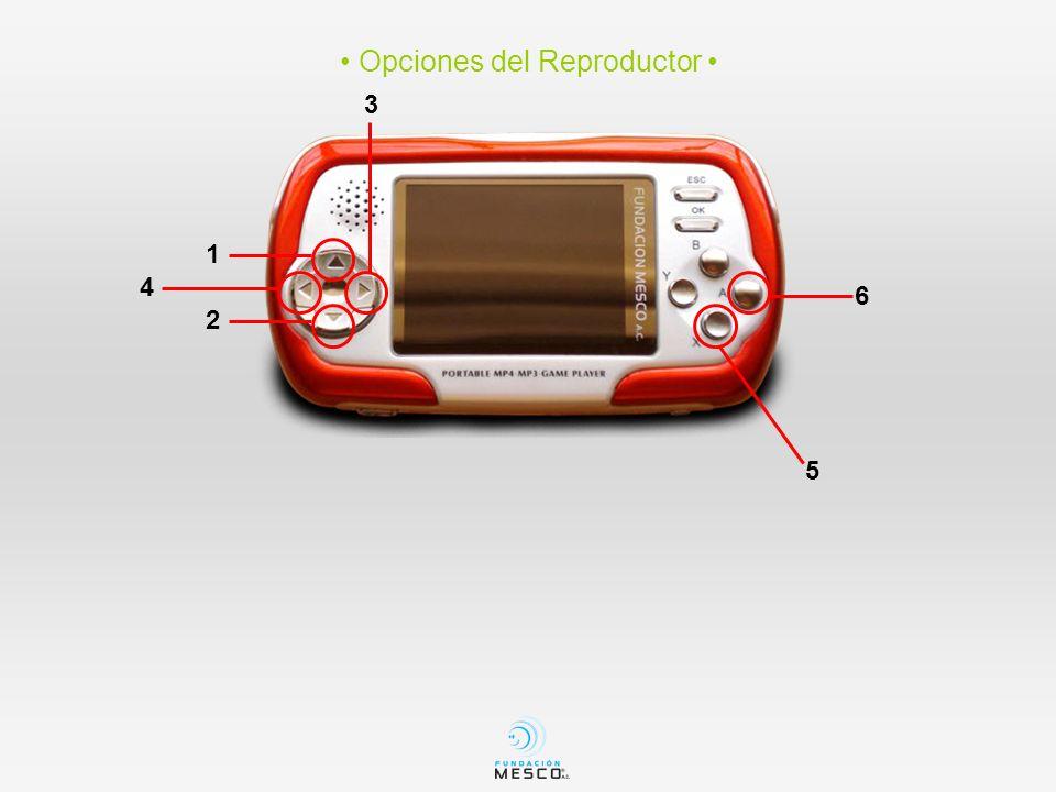 • Opciones del Reproductor •