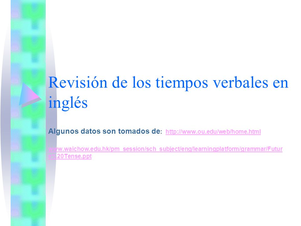 Revisión de los tiempos verbales en inglés