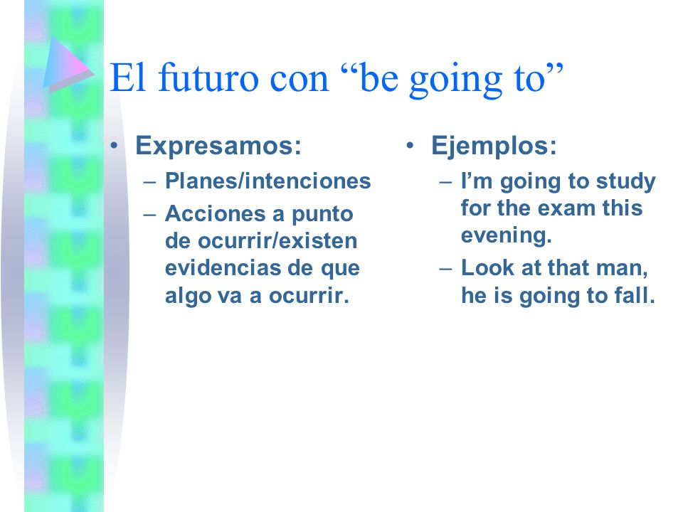El futuro con be going to