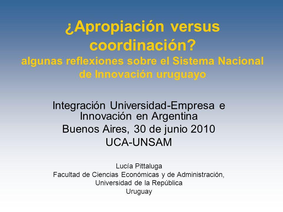 ¿Apropiación versus coordinación