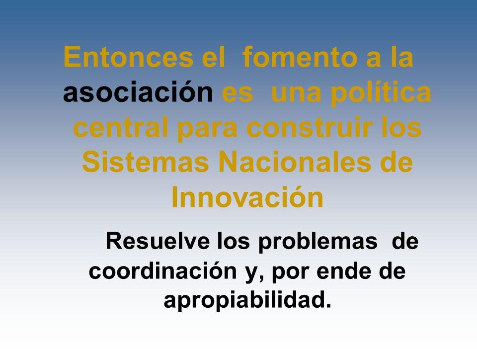 Resuelve los problemas de coordinación y, por ende de apropiabilidad.