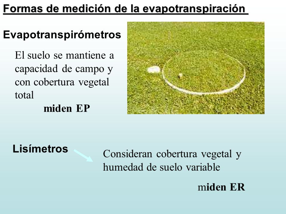 Formas de medición de la evapotranspiración