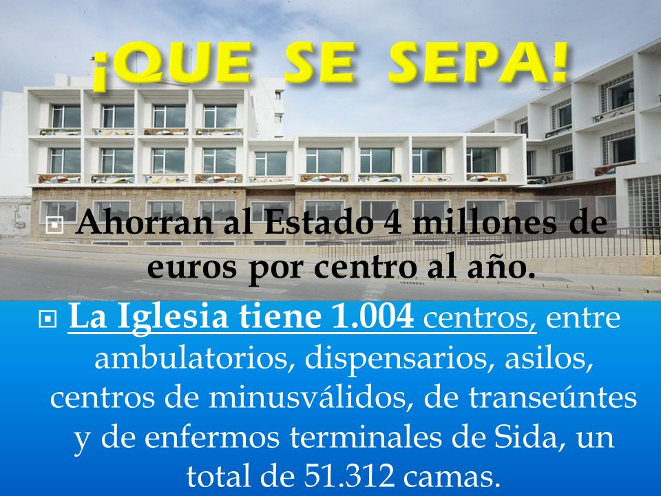 Ahorran al Estado 4 millones de euros por centro al año.