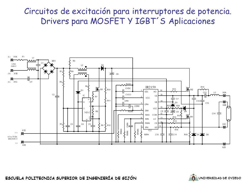 Circuitos de excitación para interruptores de potencia