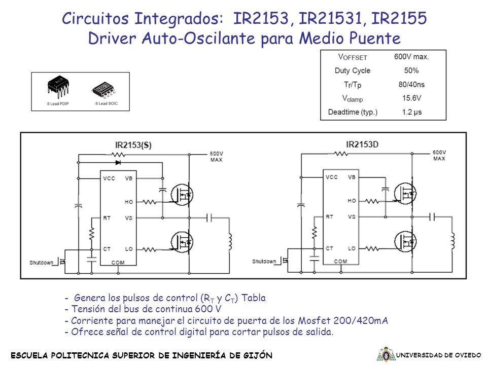 Circuitos Integrados: IR2153, IR21531, IR2155