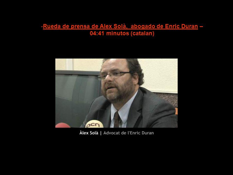 Rueda de prensa de Alex Solà, abogado de Enric Duran –