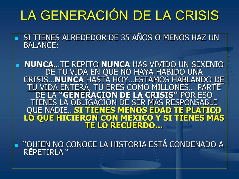 LA GENERACIÓN DE LA CRISIS