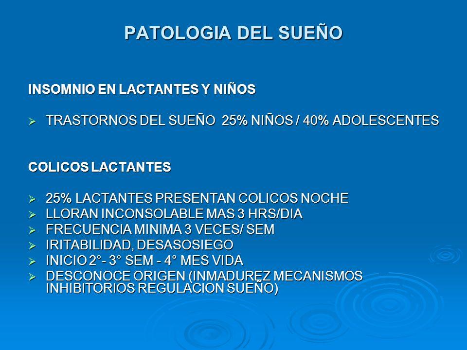 PATOLOGIA DEL SUEÑO INSOMNIO EN LACTANTES Y NIÑOS