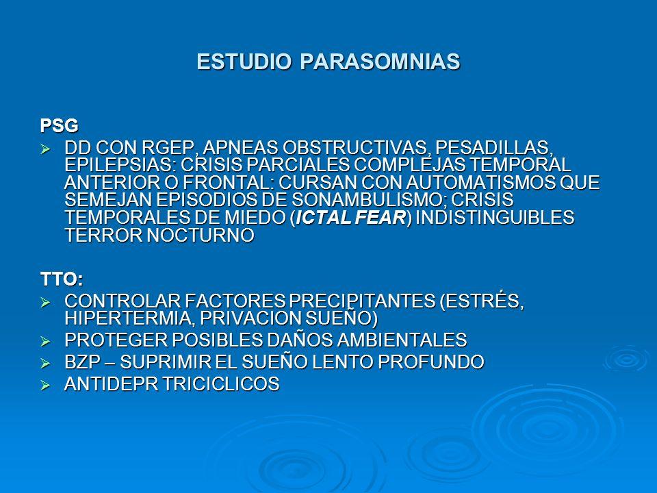 ESTUDIO PARASOMNIAS PSG
