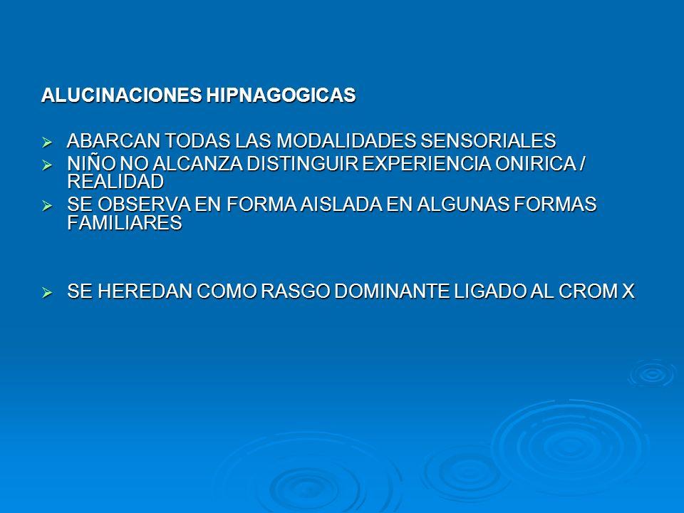 ALUCINACIONES HIPNAGOGICAS