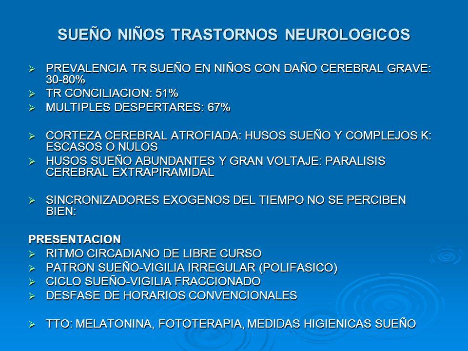 SUEÑO NIÑOS TRASTORNOS NEUROLOGICOS