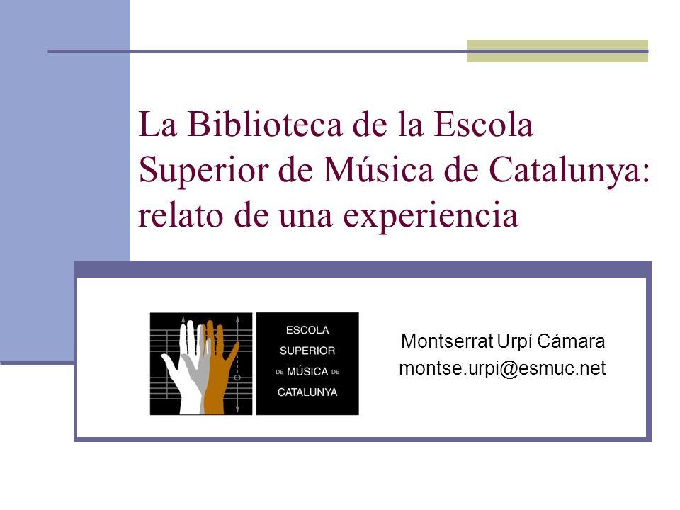 Montserrat Urpí Cámara montse.urpi@esmuc.net