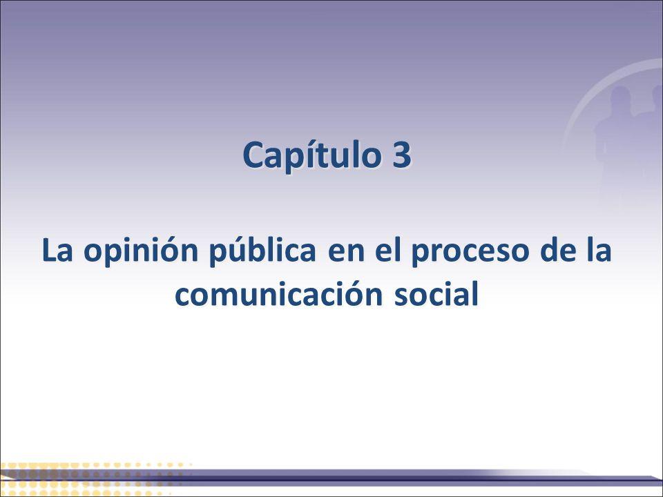 Capítulo 3 La opinión pública en el proceso de la comunicación social