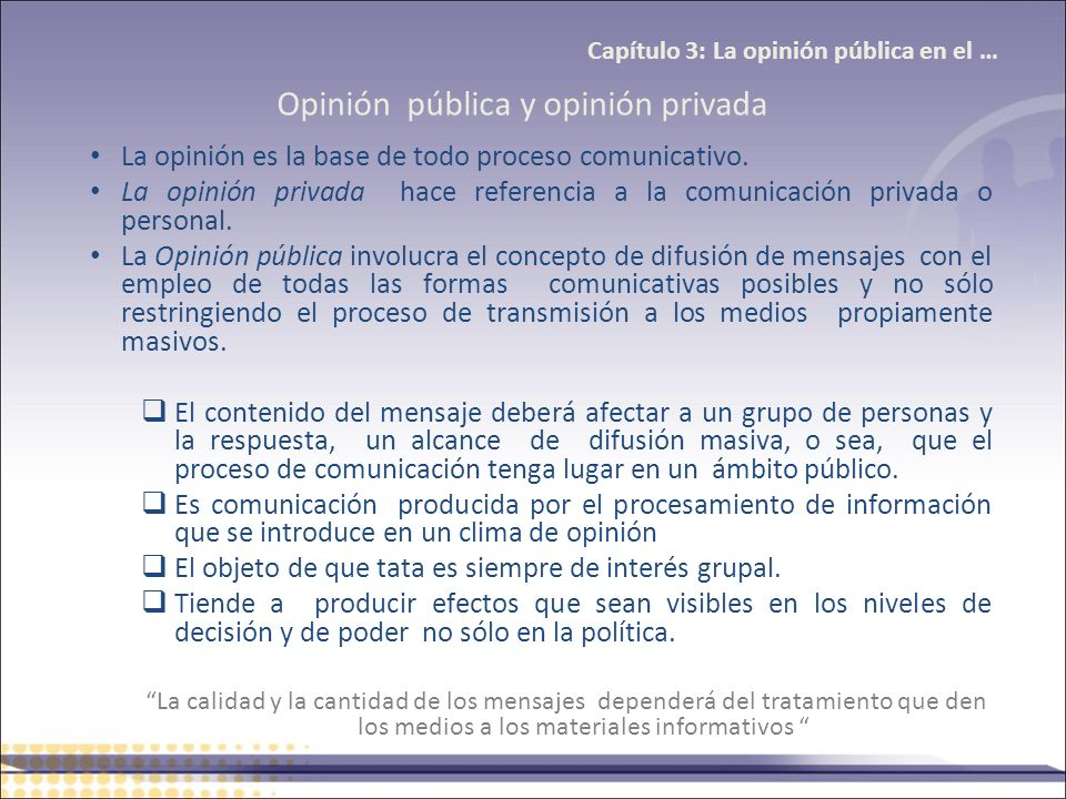 Opinión pública y opinión privada