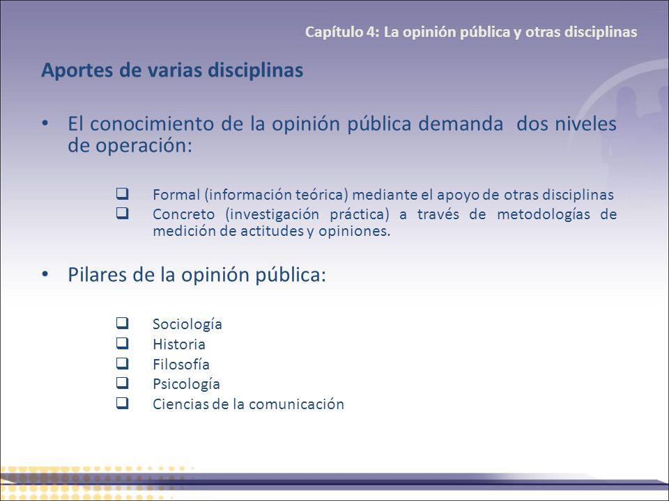Capítulo 4: La opinión pública y otras disciplinas