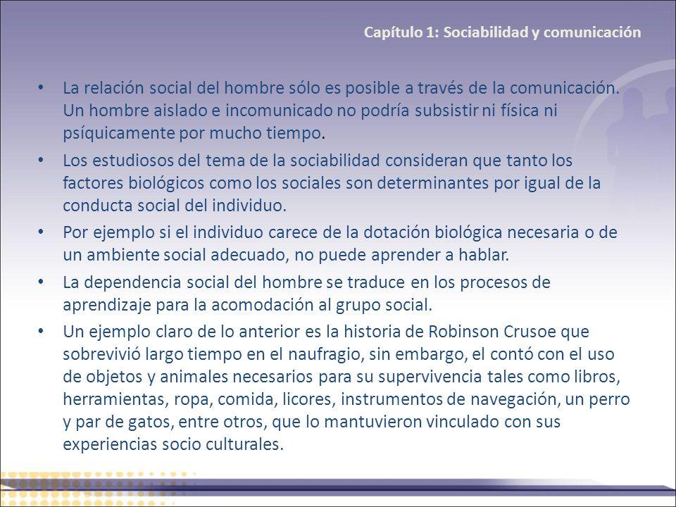 Capítulo 1: Sociabilidad y comunicación