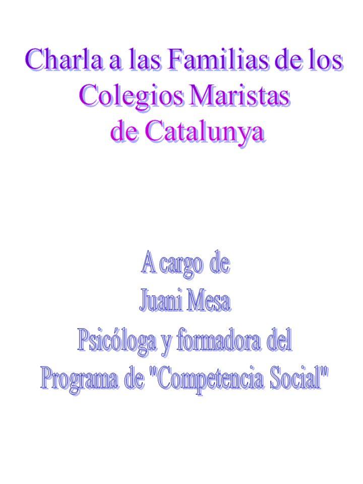Charla a las Familias de los Colegios Maristas de Catalunya