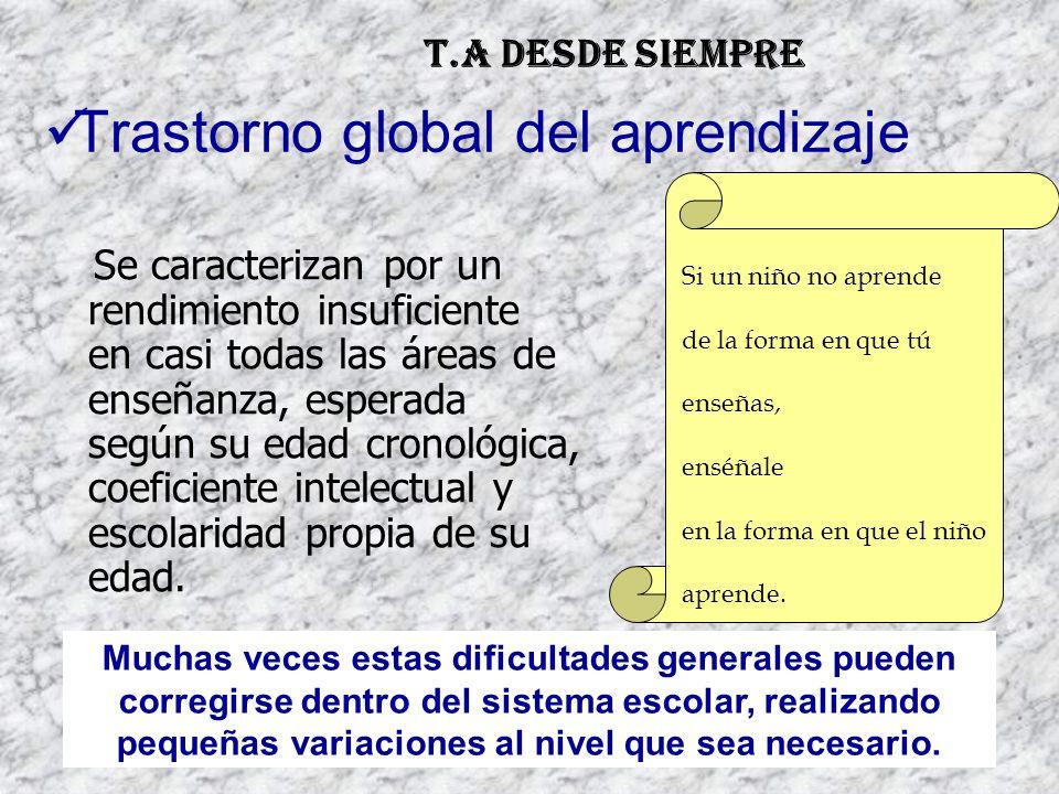 Trastorno global del aprendizaje