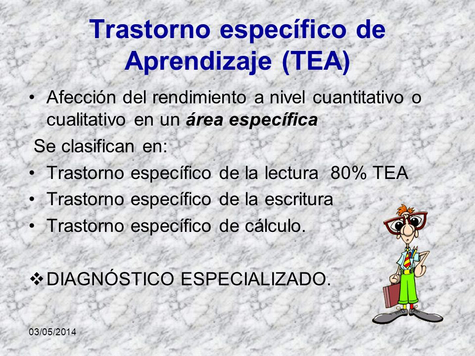 Trastorno específico de Aprendizaje (TEA)