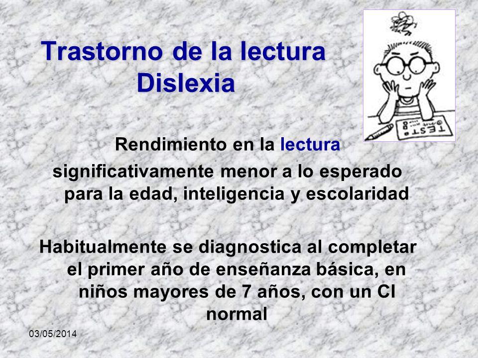 Trastorno de la lectura Dislexia