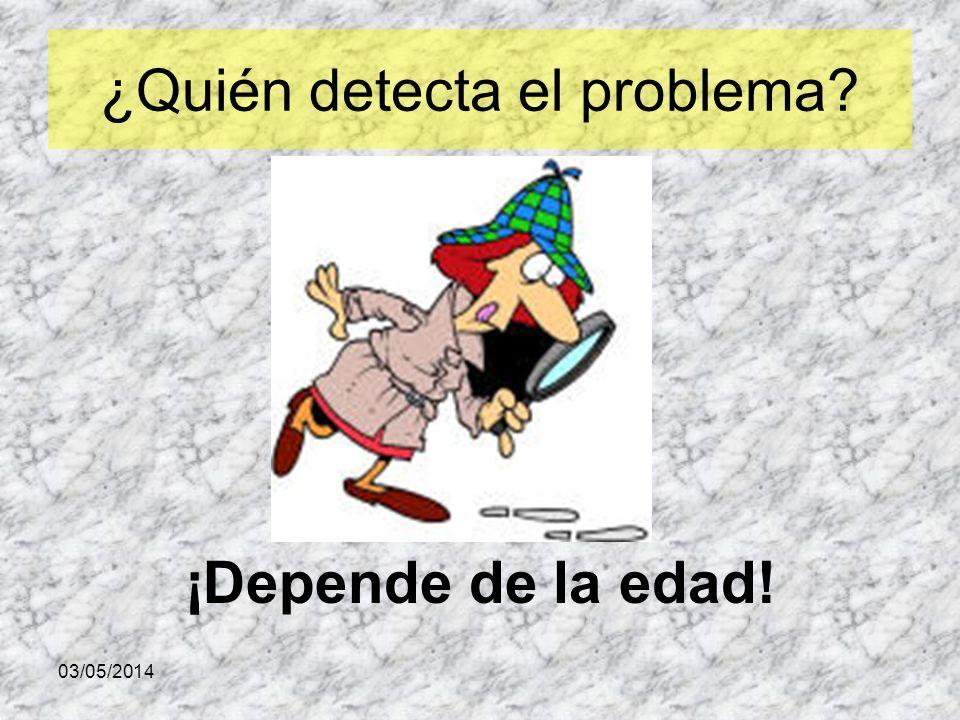 ¿Quién detecta el problema