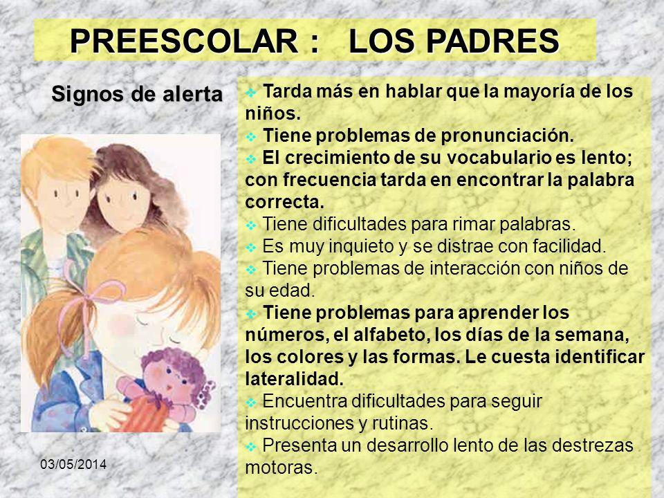 PREESCOLAR : LOS PADRES