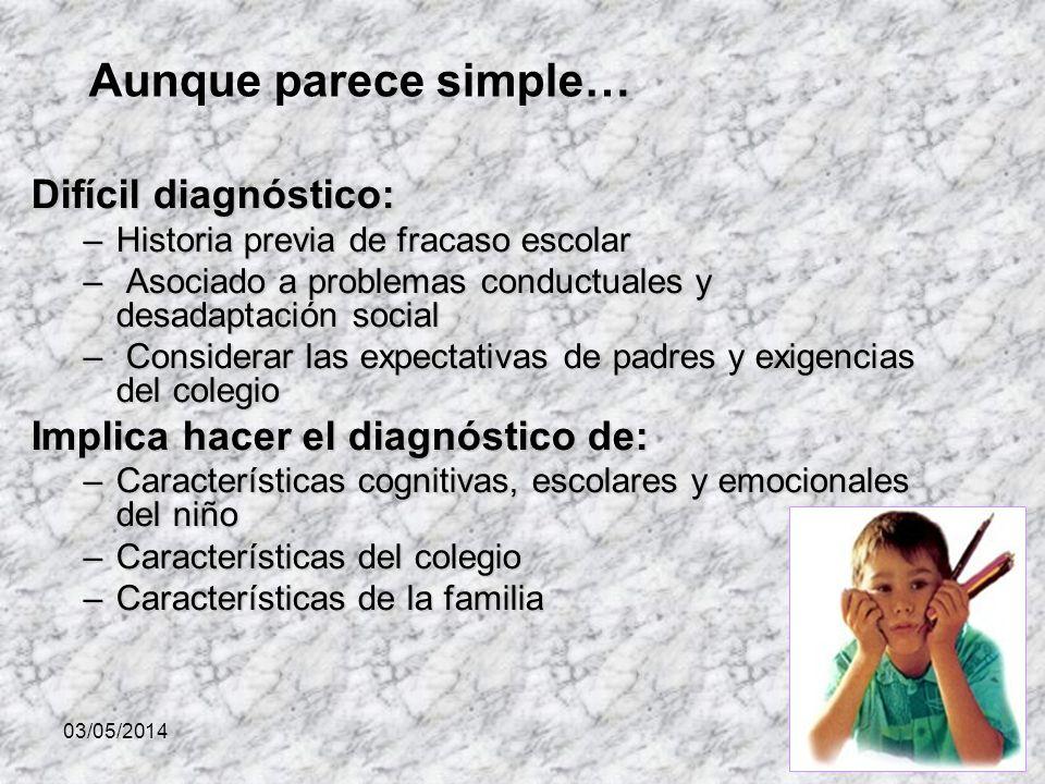 Aunque parece simple… Difícil diagnóstico: