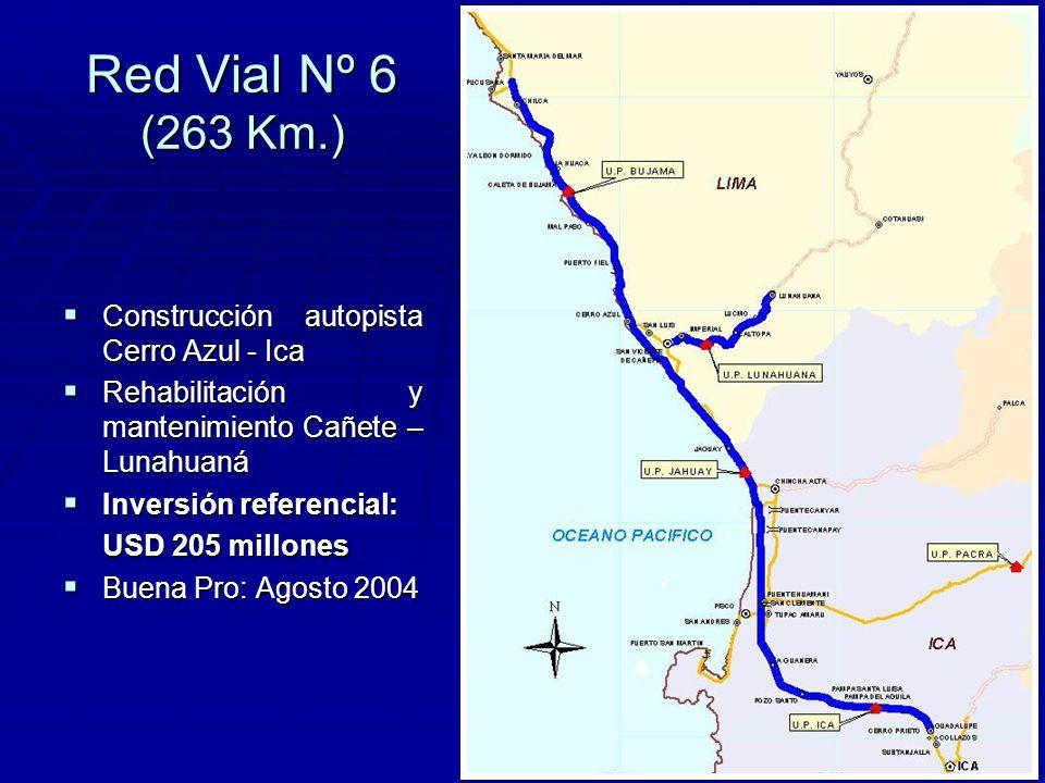 Red Vial Nº 6 (263 Km.) Construcción autopista Cerro Azul - Ica