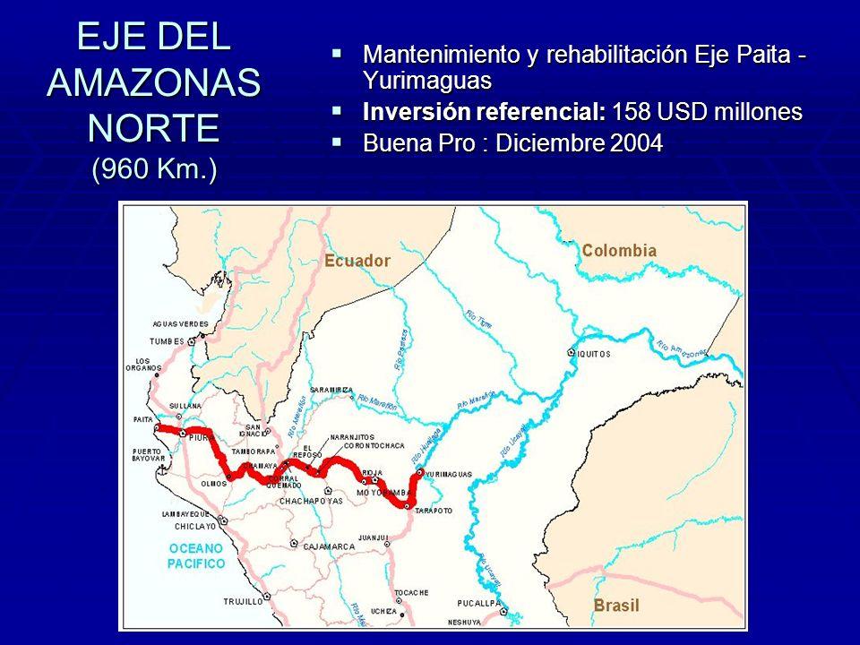 EJE DEL AMAZONAS NORTE (960 Km.)