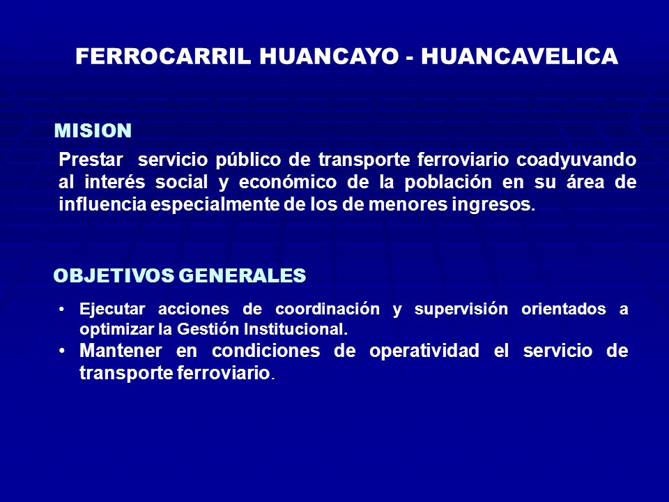 FERROCARRIL HUANCAYO - HUANCAVELICA