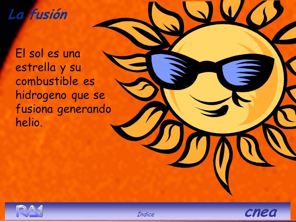 La fusión El sol es una estrella y su combustible es hidrogeno que se fusiona generando helio.
