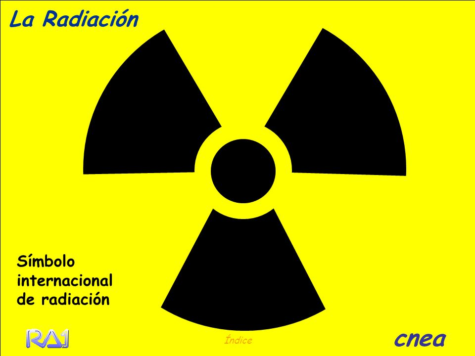 La Radiación Símbolo internacional de radiación cnea Índice