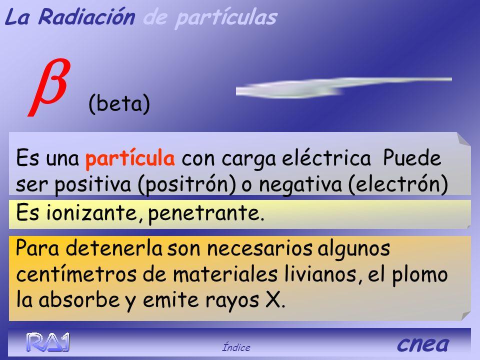b La Radiación de partículas (beta)
