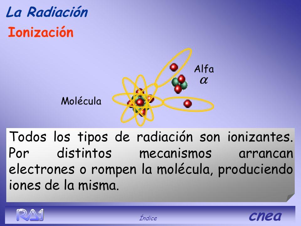 La Radiación Ionización a