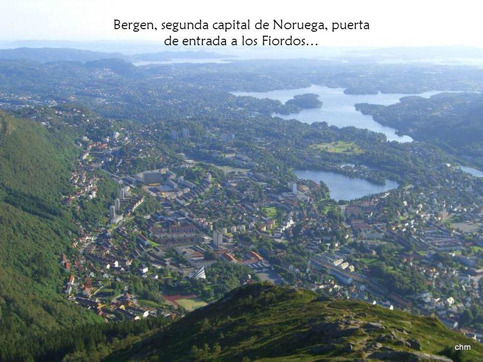 Bergen, segunda capital de Noruega, puerta de entrada a los Fiordos…