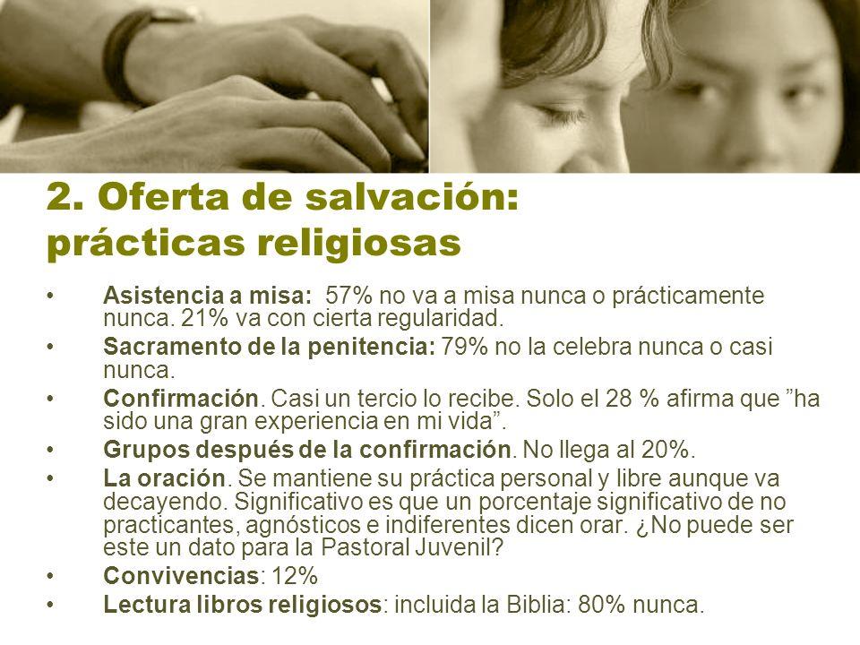 2. Oferta de salvación: prácticas religiosas