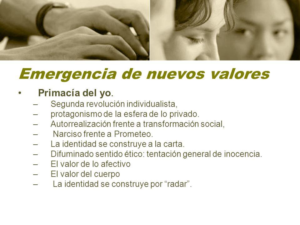 Emergencia de nuevos valores