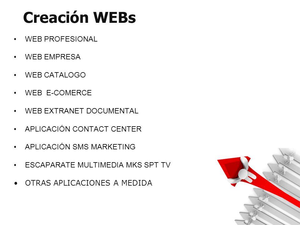Creación WEBs WEB PROFESIONAL WEB EMPRESA WEB CATALOGO WEB E-COMERCE