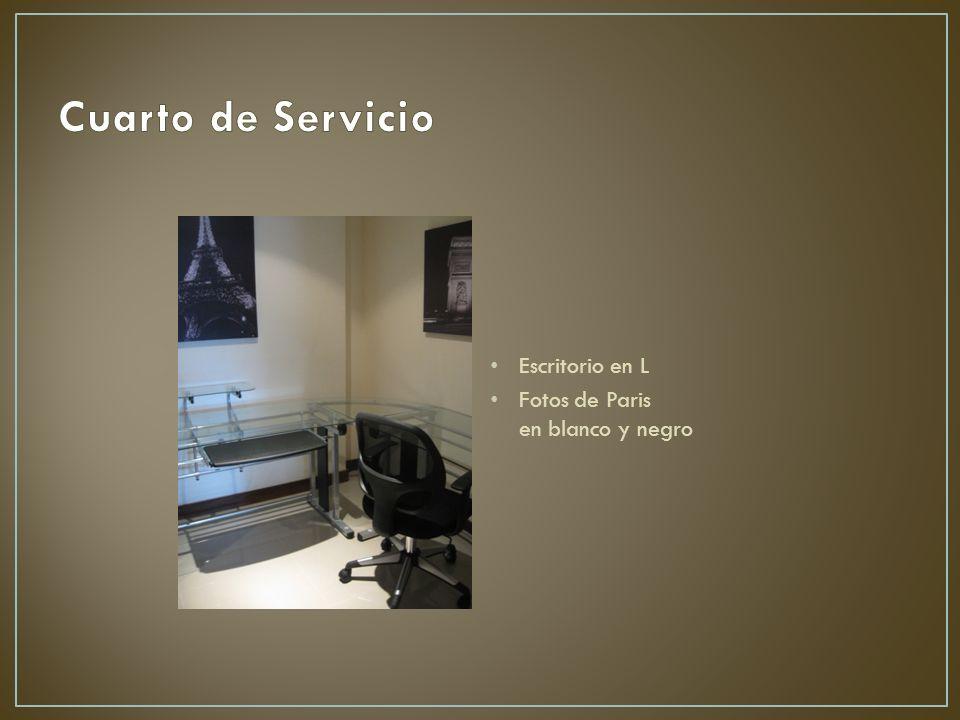 Cuarto de Servicio Escritorio en L.