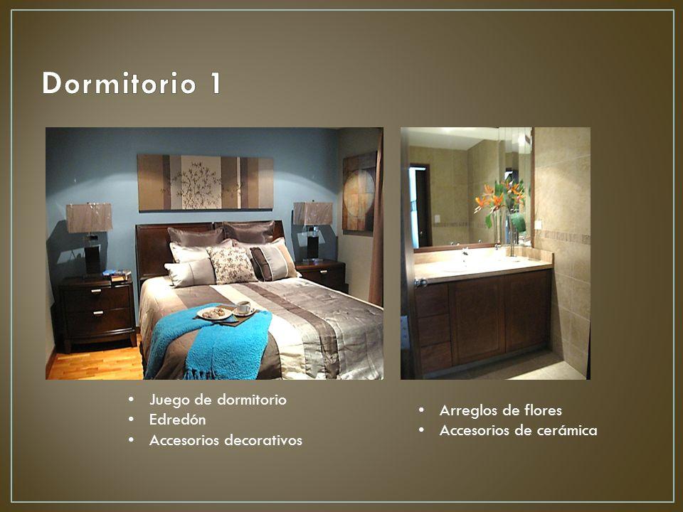 Dormitorio 1 Juego de dormitorio Edredón Arreglos de flores