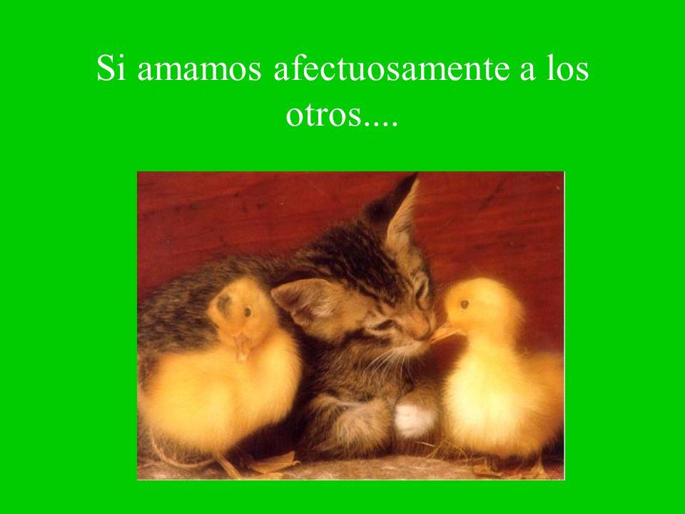 Si amamos afectuosamente a los otros....